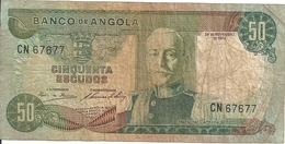 ANGOLA 50 ESCUDOS 1972 VG+ P 100 - Angola