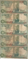 ANGOLA 50 ESCUDOS 1972 VG+ P 100 ( 5 Billets ) - Angola