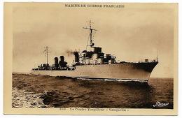 Marine De Guerre Française - Contre Torpilleur  VAUQUELIN - Guerra