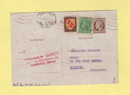Tarif Du 3 Janvier 1947 - Type Mazelin - Suresnes - 11-1-1947 (debut Du Tarif) - Postmark Collection (Covers)