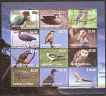 Tonga  2012 Yvertn° 1268-1279 *** MNH Cote 95 Euro Faune Oiseaux Vogels Birds - Tonga (1970-...)