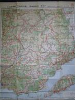 Carte TARIDE Routière 17 PROVENCE BASSE ALPES Drome Bouche Du Rhone Var Cote D'Azur Alpes Maritme Map Karte 1925/30 TBE - Cartes Routières