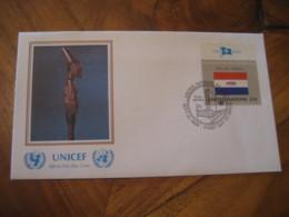 NEW YORK UN 1989 UNICEF Flag Series Zulu Tribe FDC Cancel Cover SOUTH AFRICA RSA - Afrique Du Sud (1961-...)