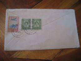 COLOMBO Ceylon 1953 To London England 3 Stamp On Cancel QANTAS Air Mail Cover British Colonies - Ceylon (...-1947)