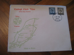 DOUGLAS 1968 4d 5d FDC Cancel Cover Isle Of MAN Great Britain England GB UK - Isla De Man