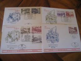 WIEN 1964 UPU Congres Postal Universel Vienne FDC Cancel 4 Cover AUSTRIA - 1945-.... 2. Republik