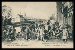 PORTUGAL«1ª GUERRA MUNDIAL»-Sector Portuguez-Zona Devastada-Merville-Reparando Uma Estrada(Ed.Levy Fils&Cª)carte Postale - Guerra 1914-18