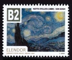 Regno Di Elendor - Francobollo (cinderella) - B2 - Notte Stellata (Van Gogh) - Anno 2018 - Etichette Di Fantasia
