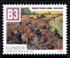Regno Di Elendor - Francobollo (cinderella) - B3 - Vigneto Rosso (Van Gogh) - Anno 2018 - Etichette Di Fantasia