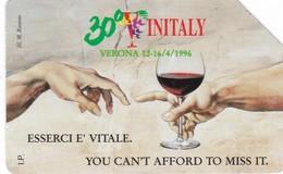 SCHEDA TELEFONICA  30° VINITALY  SCADENZA 30/06/1997 USATA - Italia
