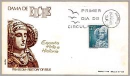 Arqueologia - DAMA DE ELCHE - Archeology. SPD/FDC Madrid 1969 - Arqueología