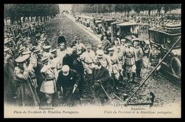 PORTUGAL«1ª GUERRA MUNDIAL»-Os Portuguezes Em França-Visita Do Presidente Da Republica (Ed.Levy Fils & Cª)carte Postale - Guerra 1914-18