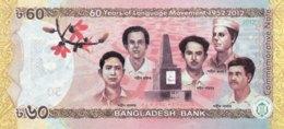 Bangladesh 60 Taka, P-61 (2012) - UNC - 60  Years Language Movement - Bangladesh