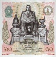 Thailand 60 Bath, P-93a (1987) - UNC - 60th Birthday King - Thailand