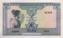 Laos 10 Kip, P-10b (1962) - UNC - Signature 5 - Laos