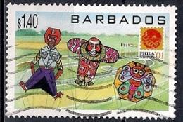 Barbados 2001 - International Stamp Exhibition Philanippon '01 - Tokyo - Kites - Barbados (1966-...)