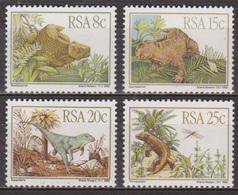 Animaux Préhistoriques - AFRIQUE DU SUD - Dinosaures: Bradysaurus, Lystrosaurus, Euparkeria - N° 527 à 530 ** - 1982 - Afrique Du Sud (1961-...)