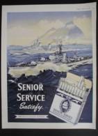 ORIGINAL 1957 MAGAZINE ADVERT FOR SENIOR SERVICE CIGARETTES - Other