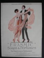 ORIGINAL 1922 MAGAZINE ADVERT FOR ERASMIC SOAPS AND PERFUMES - Advertising