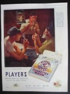 ORIGINAL 1922 MAGAZINE ADVERT FOR PLAYERS CIGARETTES. 'WATCH BELOW' - Advertising