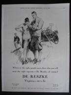 ORIGINAL 1928 MAGAZINE ADVERT FOR DE RESZKE CIGARETTES - Other