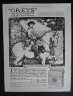 ORIGINAL 1928 MAGAZINE ADVERT FOR THE GREYS CIGARETTES - Advertising