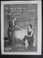 ORIGINAL 1928 MAGAZINE ADVERT FOR PLAYERS BACHELOR CIGARETTES - Other