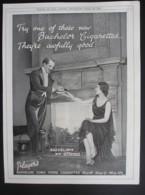 ORIGINAL 1928 MAGAZINE ADVERT FOR PLAYERS BACHELOR CIGARETTES - Advertising