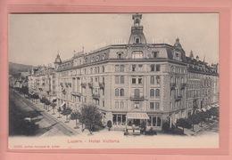 OUDE POSTKAART ZWITSERLAND  -  SCHWEIZ -  SUISSE -     LUZERN - HOTEL VICTORIA - LU Luzern