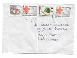 Macedonia RED CROSS 2 Stamp 2002 HELP - Macedonia