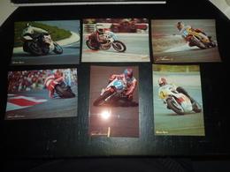 LOT DE 6 PHOTOS CIRCUIT PAUL RICARD - AGOSTINI / LANSIVUORI / CECOTTO / CHOUKROUN - PHOTO ALAIN COCHET - 83 VAR (AD) - Motorfietsen
