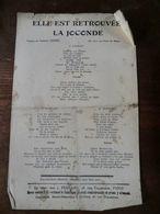 Elle Est Retrouvée..la Joconde-paroles De Francis Izenic-air: Les Ponts De Paris - Partitions Musicales Anciennes