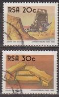 Centenaire De Johannesbourg - AFRIQUE DU SUD - Mine D'or - Lingots D'or - N° 611-613 - 1986 - Afrique Du Sud (1961-...)