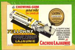 Buvard & Blotting Paper : Le Chewing Gum YELLOWNY CACHOU LA JAUNIE - Cake & Candy