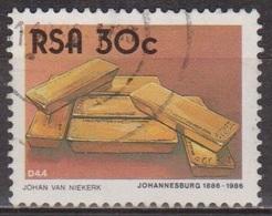 Centenaire De Johannesbourg - AFRIQUE DU SUD - Lingots D'or - N° 613 - 1986 - Afrique Du Sud (1961-...)