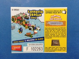 2017 BIGLIETTO LOTTERIA NAZIONALE ITALIA ESTRAZIONE 2018 - Loterijbiljetten
