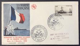 PS223 Oeuvres De La Marine 752 Env. FDC Exposition Oeuvres Sociales Marine  A.D.O.S.M. Verso 936 + 901 - 1921-1960: Période Moderne