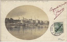 LEVANT Bureau Allemand  52 (o) Carte Postale Beirut Beyrouth Port-Said Epénancourt Somme France 1909 Vue Grand Quai - Bureau: Turquie