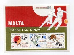 Malta - 1986 - Foglietto - Calcio - Coppa Del Mondo Mexico 86 - Nuovo - Vedi Foto - (FDC14720) - Malta