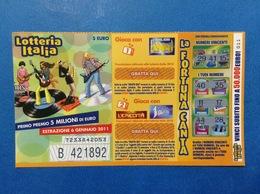 2010 BIGLIETTO LOTTERIA NAZIONALE ITALIA ESTRAZIONE 2011 - Biglietti Della Lotteria