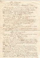 Fête Patronale De La Décotation De St Jean Baptiste à Châteaudouble 26120 Drôme Le 1er Novembre 1867 - Programs
