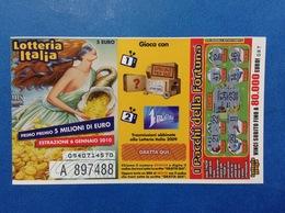 2009 BIGLIETTO LOTTERIA NAZIONALE ITALIA ESTRAZIONE 2010 - Biglietti Della Lotteria