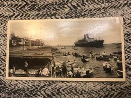 1938  Cartolina Formato Piccolo Viaggiata Molto Animata Egitto  Port Said Navi Qualche Piega - Port Said