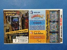 2008 BIGLIETTO LOTTERIA NAZIONALE ITALIA ESTRAZIONE 2009 - Biglietti Della Lotteria