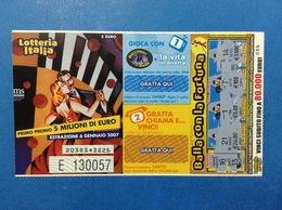 2006 BIGLIETTO LOTTERIA NAZIONALE ITALIA ESTRAZIONE 2007 - Biglietti Della Lotteria