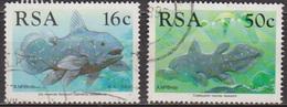 Poisson Fossile - AFRIQUE DU SUD - Identificatiuon Du Coelacanthe - N° 683-686  - 1989 - Afrique Du Sud (1961-...)