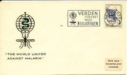 Denmark Cover 7-4-1962 The Fight Against Malaria With Nice Cachet - Denmark
