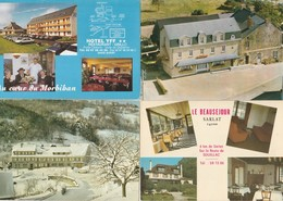 12 Cartes---hotels-restaurants-- France - Postkaarten