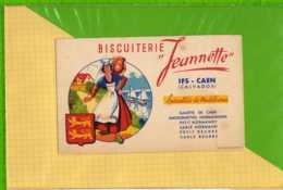 Buvard & Blotting Paper : Biscuiterie JEANNETTE IFS CAEN  Specialité De La Madeleine - Cake & Candy