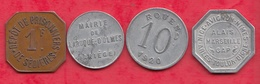 France 4 Jetons Dans L 'état Lot N °8 - Monétaires / De Nécessité